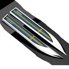 2pcs Swedish Sweden Flag Auto Car Metal Knife Fender Badge Emblem Decal Sticker For Bmw Mini Dodge Land Rover Jeep Chrysler Chevrolet Toyota Infiniti Nissan Mitsubishi Vw Volvo Buy Online In