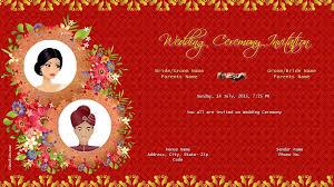 hindu wedding card design free