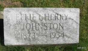 JOHNSTON, EFFIE - Sebastian County, Arkansas | EFFIE JOHNSTON - Arkansas  Gravestone Photos