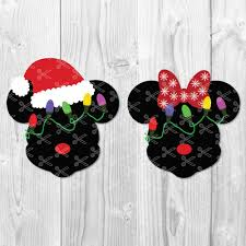 Mickey Mouse in Santa Hat SVG DXF PNG Cut Files - High Quality Premium  Design