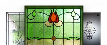 stained glass frosted