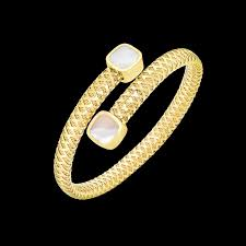 Roberto Coin 18Kt Gold Flexible Wrap Bangle With Mother Of Pearl - Davidson  & Licht