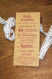 Invitacion Para La Fiesta Sorpresa De Almudena Invitacion
