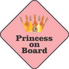 5inx5in Princess On Board Bumper Sticker Decal Car Window Stickers Decals Walmart Com Walmart Com