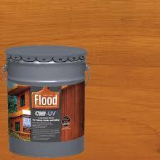 Flood 5 Gal Cedar Tone Cwf Uv Exterior Wood Finish Fld520 05 The Home Depot