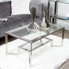 axton chrome and glass coffee table