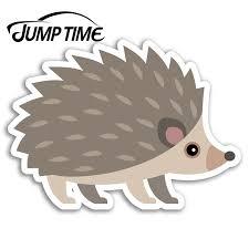 Jump Time Cute Hedgehog Vinyl Stickers Garden Animal Wild Sticker Laptop Car Assessoires Window Decals Car Wrap Diy Car Stickers Aliexpress