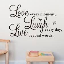 Love Every Moment Vinyl Wall Decals Lettering Art Quote Words Wall Stickers Removable Diy Living Room Wallpaper For Home Decor Wall Stickers Aliexpress