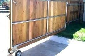 Rolling Wood Fence Gate Wood Fence Gates Wood Fence Sliding Fence Gate