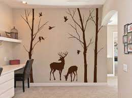 Deer Wall Decals Nature Wall Decals Vinyl Wall Decal Wall Etsy