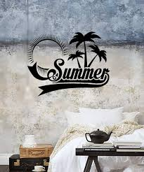 Wall Sticker Vinyl Decal Summer Palm Beach Relax Tropical Sun Decor I Wallstickers4you