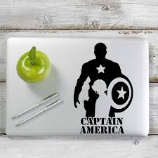 Captain America Decal Sticker For Car Window Laptop And More 1201 Yoonek Graphics