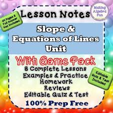 slope game intercept line worksheets