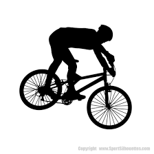 Mountain Biking Silhouette Decals Mountain Biking High Adventure Wall Decals