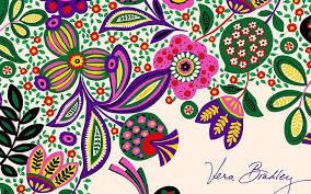 vera bradley background multi colored