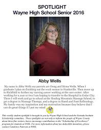 Senior Spotlight: Abby Wells - Entrada Institute