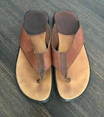 tommy bahama men s brown leather flip