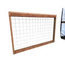 Unbranded 4 Ft X 6 Ft Madison Park Hog Redwood Fence Panel Madparkred The Home Depot