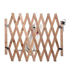 Caldipree Wood Folding Pet Dog Barrier Wooden Safety Gate Expanding Swing Puppy Fence Door Simple Stretchable Wooden Fence Amazon In Garden Outdoors