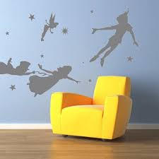 Peter Pan Wall Decal Vinyl Nursery Kids Children Decals Flying Tinkerbell Wendy Stars Home House Baby Room Decor Wall Sticker Kid Mural 915 Thefuns On Artfire