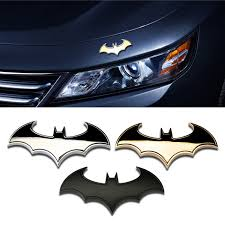 Cool 3d Metal Bat Auto Logo Car Sticker Metal Batman Badge Emblem Tail Decal Walmart Com Walmart Com