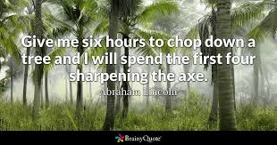 abraham lincoln give me six hours to chop down a tree