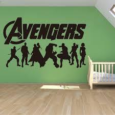 Avengers Logo Marvel Wall Art Sticker Decals Home Decor Art Decor Independence