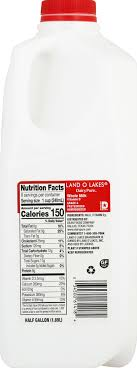 land o lakes whole milk half gallon
