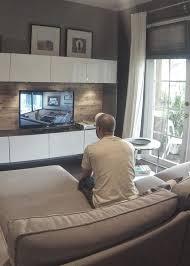 Besta White Tv Unit Kivik Beige Sofa And Strind Coffee Table I