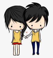 cartoon hugging clip art