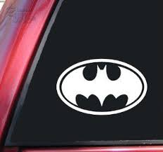Amazon Com Batman Bat Symbol Vinyl Decal Sticker White Automotive Vinyl Decal Stickers Vinyl Decals Bat Symbol