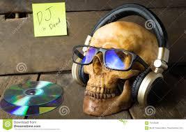 La Musica DJ è Morta Il Fantasma Sta Ascoltando La Cuffia Di ...