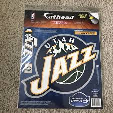 Fathead Wall Art Nba Reusable Stickers Utah Jazz Poshmark