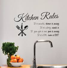 Kitchen Rules Sign Wall Decal Sticker 1364 Innovativestencils