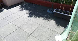 rubber tiles used to pave an entire