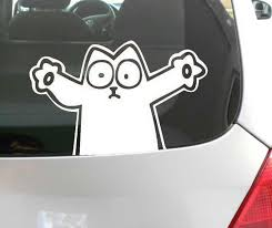 2020 Fun Decal Simons Cat Funny Car Window Sticker Aufkleber Decal Vinyl Funny Car Decal Window Sticker From Mysticker 4 58 Dhgate Com