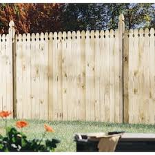 Wood Fencing 6 X 8 Treated Gothic Privacy Fence Panel Lowes Inventory Checker Brickseek