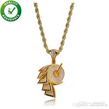 iced out pendant mens designer necklace