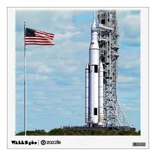 Nasa Sls Space Launch System Rocket Launchpad Wall Sticker Zazzle Com