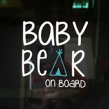 Baby Bear On Board Decal Baby On Board Mama Bear Car Decal Cup Decal Mommy Mom Mom Life Momma Bear Bear Decal Cricut Projects Vinyl Baby Stickers