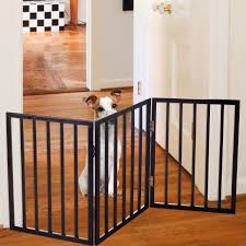 Dog Supplies Fences Exercise Pens Free Standing Wooden Pet Gate Dog Safety Fence Indoor Wood Barrier Step Over Pet Supplies Dog Supplies