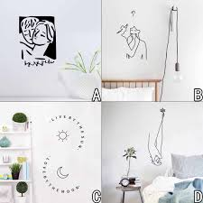Family Home Wall Sticker Mural Decals Art Room Decor Wall Stickers Line Drawing Decor Home Room Diy Decor Simple Removable Mural Wall Stickers Aliexpress
