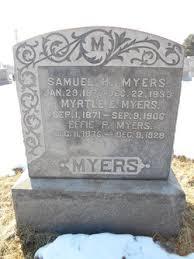 Effie Priscilla Bates Myers (1875-1929) - Find A Grave Memorial