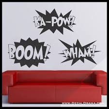 Boom Ka Pow Wham Graphic Novel Comic Book Expletives Vinyl Wall Decal Sold By Decal Drama On Storenvy