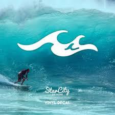 Wave Vinyl Decal Ocean Wave Sticker Decal Window Sticker Etsy