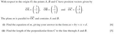equation of plane parallel to a vector
