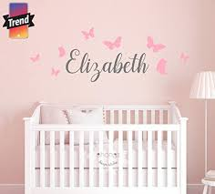 Amazon Com Kids Name Wall Decal Kids Room Nursery Decal Custom Name Sticker Personalized Wall Decal Baby Name Decal Butterfly Name Handmade