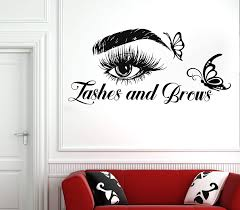 Amazon Com Eyelash Decals Wall Decal Window Sticker Beauty Salon Woman Face Eyelashes Lashes Eyebrows Brows 4022 Handmade