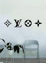 Louis Vuitton Logo Pattern V2 Wall Decal Home Decor Bedroom Room Vinyl Boop Decals