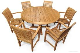 teak patio dining set for 6 round table